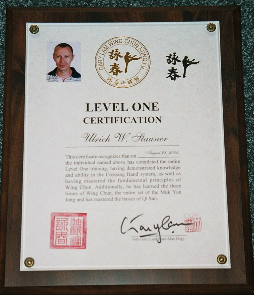 Ulrich Stauner Certification Level One