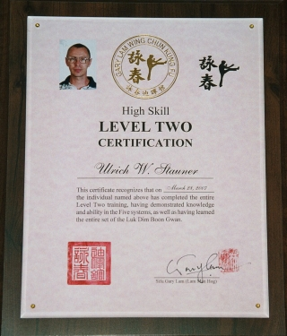 Ulrich Stauner Certification Level Two